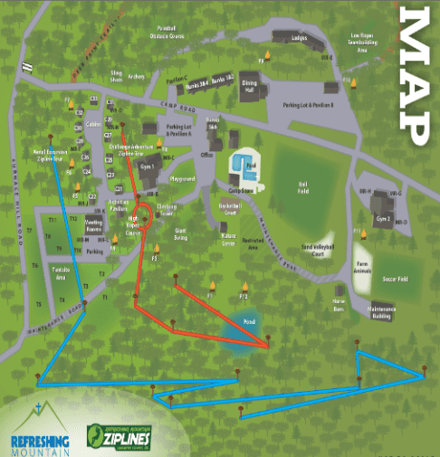 Virtual Camp Tour and Map of Refreshing Mountain in Pennsylvania