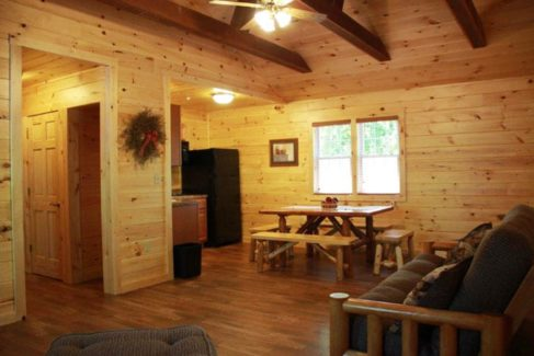 Living Room of Cabin Rental