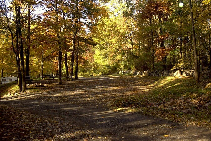 Camping Sites in the Fall