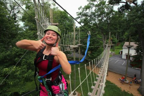 Challenge Adventure_Zipline_Thumbs Up_Summer_Ladies